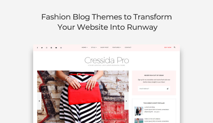 11 Fashion Blog Themes to Transform Your Website Into a Runway