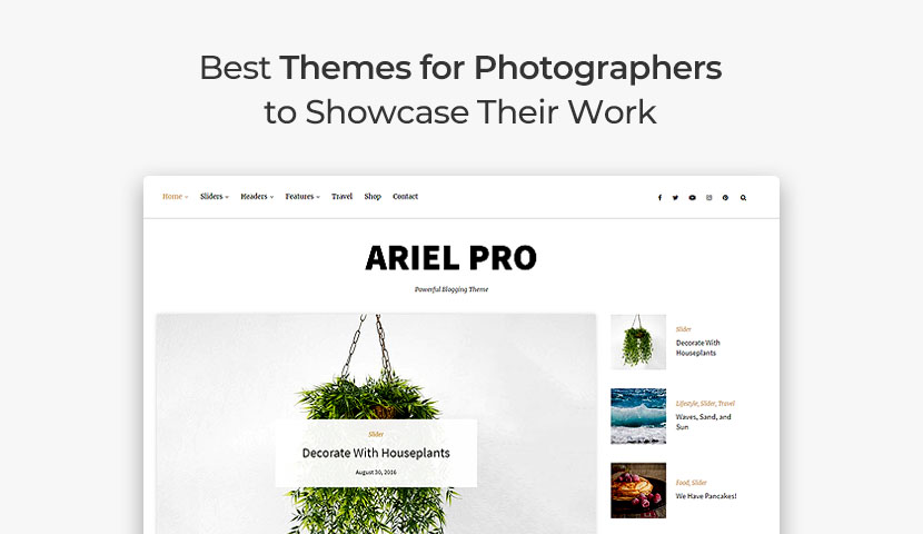 11 Best Themes for Photographers to Showcase Their Work