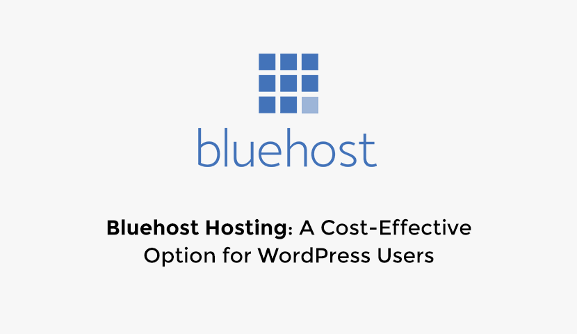 Bluehost Hosting: A Cost-Effective Option for WordPress Websites