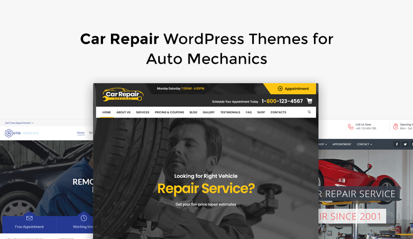 9 Car Repair WordPress Themes for Auto Mechanics