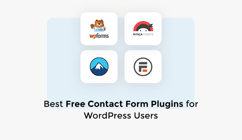 4 Best Free Contact Form Plugins for WordPress