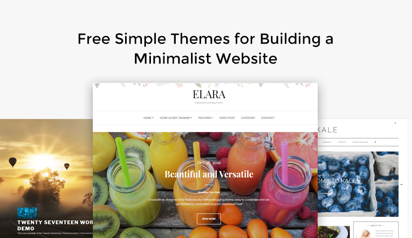 11 Free Simple Themes for Building a Minimalist Website