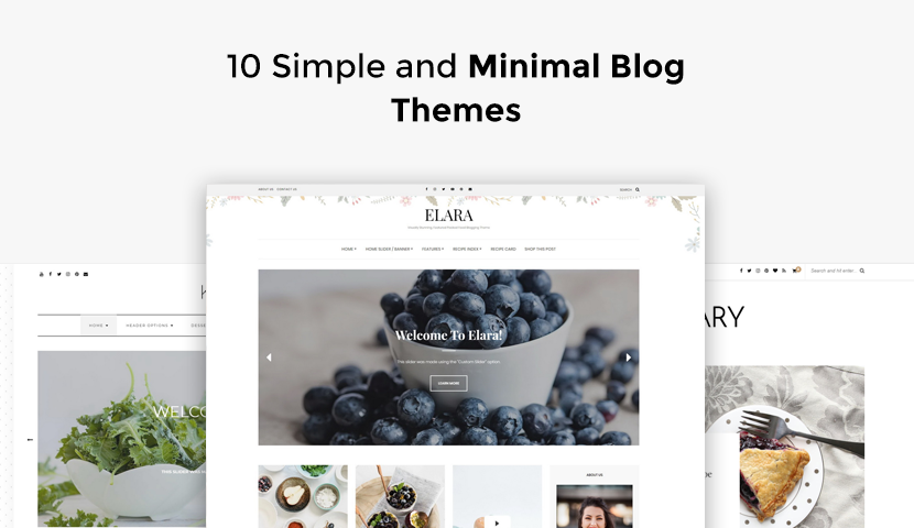 10 Simple and Minimal Blog Themes