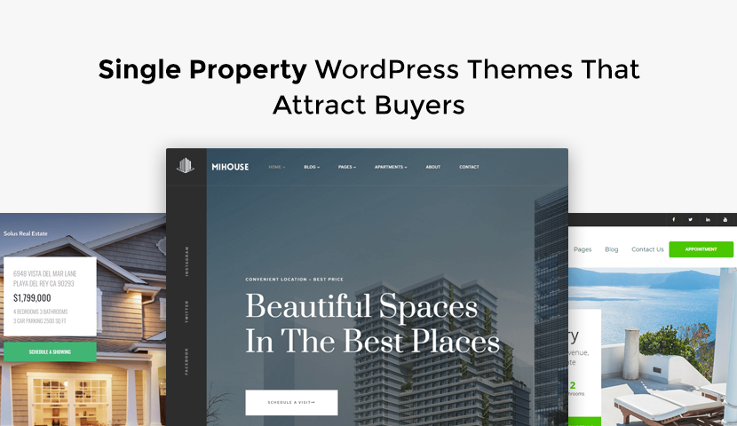 9 Single Property WordPress Themes That Attract Buyers