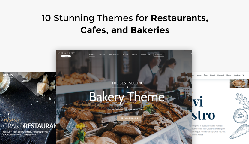 10 Stunning Themes for Restaurants, Cafes, and Bakeries