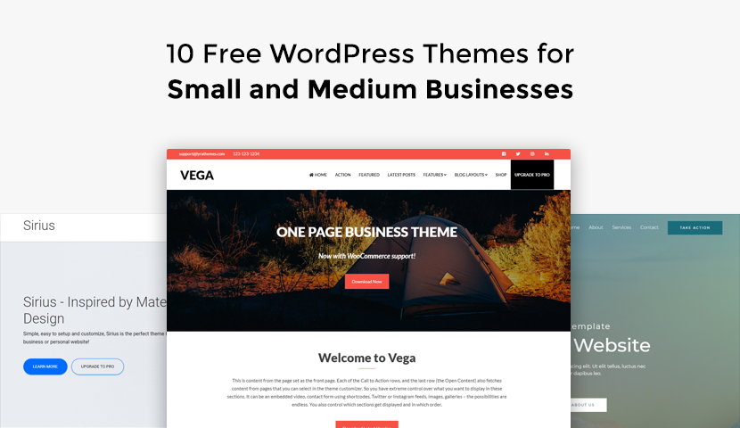 10 Free WordPress Themes for Small and Medium Businesses