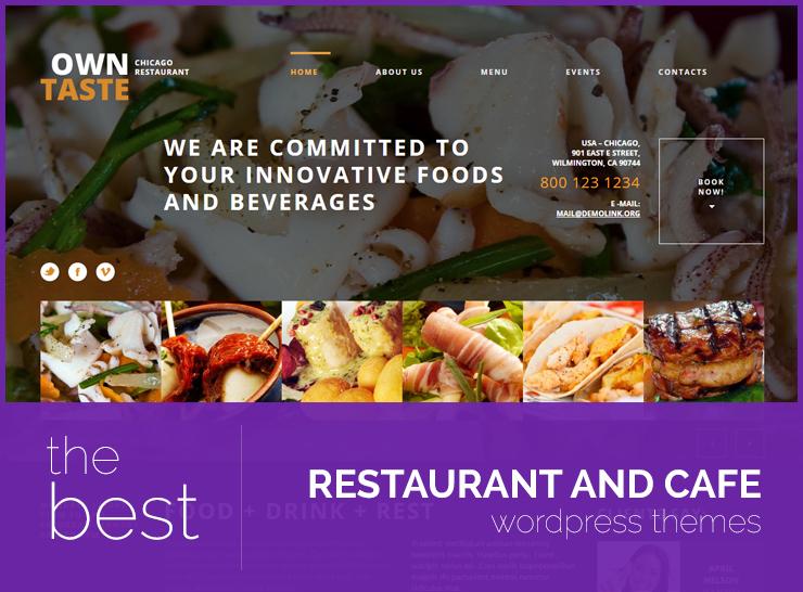 10 best restaurant wordpress themes 2017