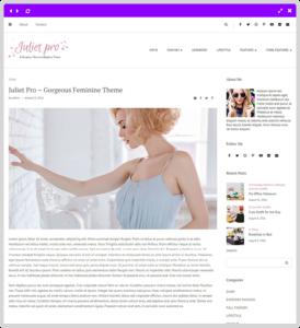 feminine blog blog post page