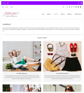 2 columns look book - personal blog