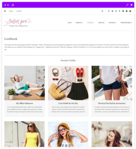 look book - feminine blog theme
