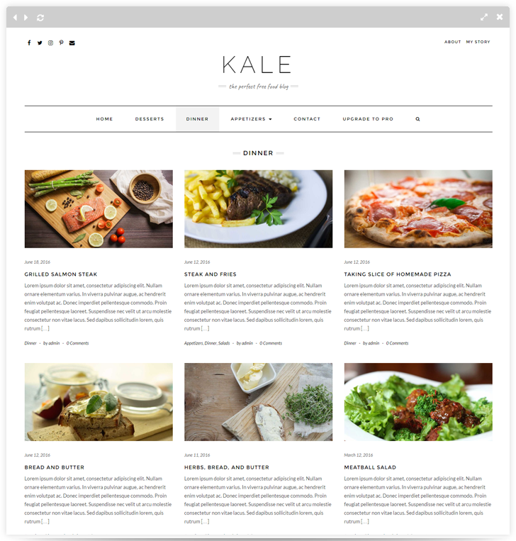 Kale the perfect free food blog theme forumfinder Choice Image