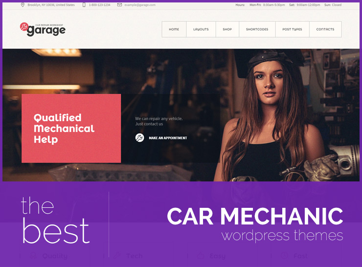 Top 20 Car Mechanic WordPress Themes for Auto Repair Shops, Garages, Car Parts Stores