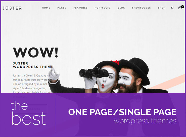 Top 20 Minimal One Page WordPress Themes For Creative Portfolios, Business Websites and Blogs