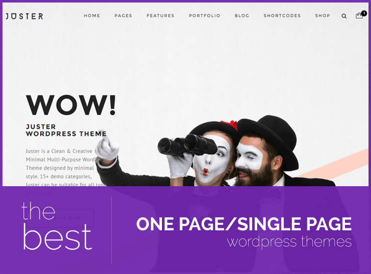 Top 40 Minimal One Page WordPress Themes For Creative Portfolios, Business Websites and Blogs