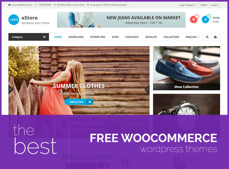 Top 25 Free WooCommerce Themes for Powering Your Online Store