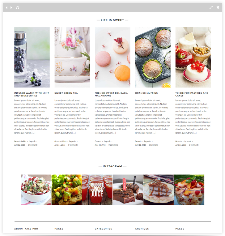 Kale pro premium food blog theme for wordpress forumfinder Choice Image