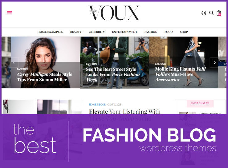 15 Best Fashion Blog, Magazine, and Photography WordPress Themes