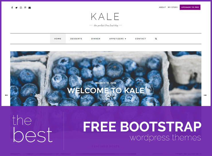 Top 20 Free WordPress Themes Built Using The Bootstrap Framework For Personal Blogs Portfolio, and Business Websites