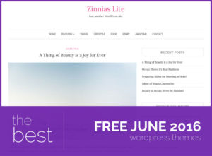 best free wordpress themes june 2016