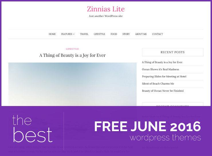 Top 5 Free WordPress Themes of June 2016
