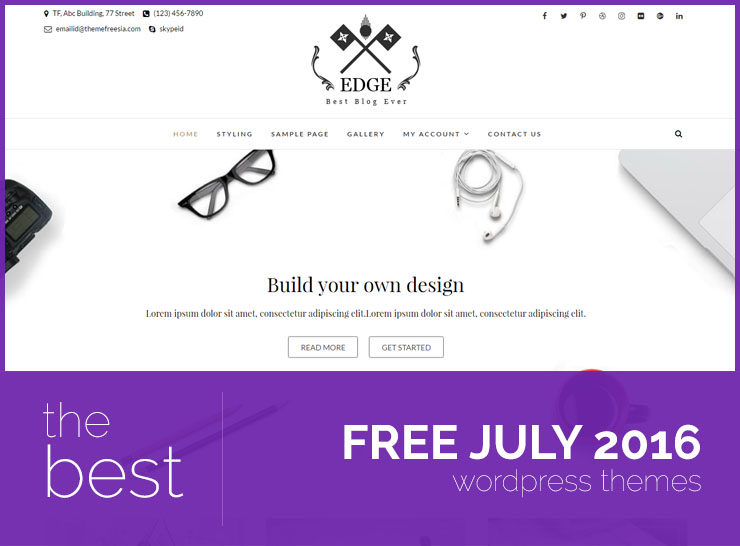 10 Best Free WordPress Themes of July 2016