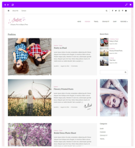feminine blog theme - category