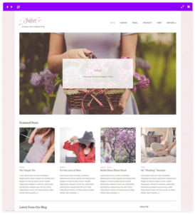 feminine wordpress theme - Front page