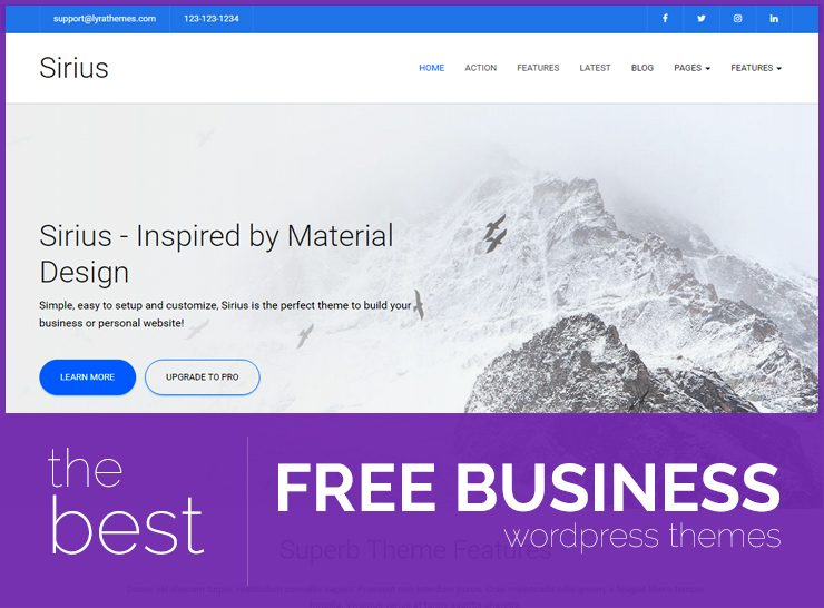 Collection of free wordpress themes lyrathemes the best free wordpress business themes for small and medium business personal portfolios and startups accmission Image collections