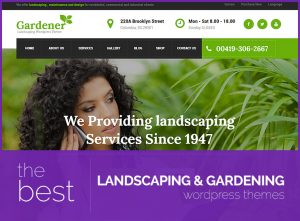 best landscaping and gardening wordpress themes