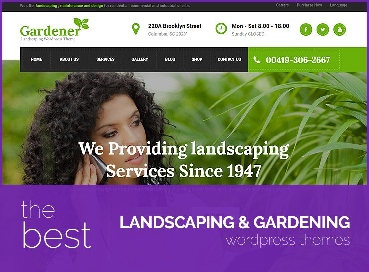 10+ Best Gardening and Landscaping WordPress Themes for Landscapers, Gardeners, and Exterior Designers 2017