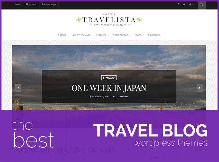 10+ Stunning WordPress Travel Blog Themes for Travel Journals, Diaries, Stories, and Memories 2017