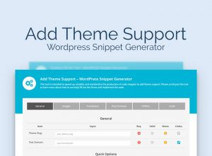 add theme support - WordPress snippet generator
