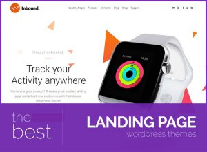 best landing page wordpress themes 2017