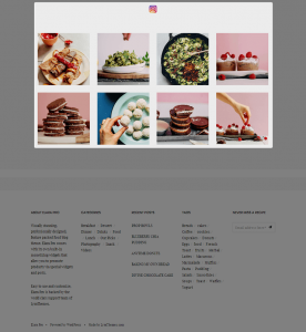 Elara Pro - Homepage - Instagram Widget
