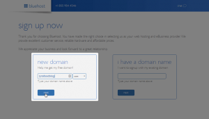 Bluehost - New Domain