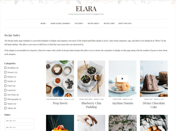 How to Setup a Recipe Index in Elara Pro (Step by Step)