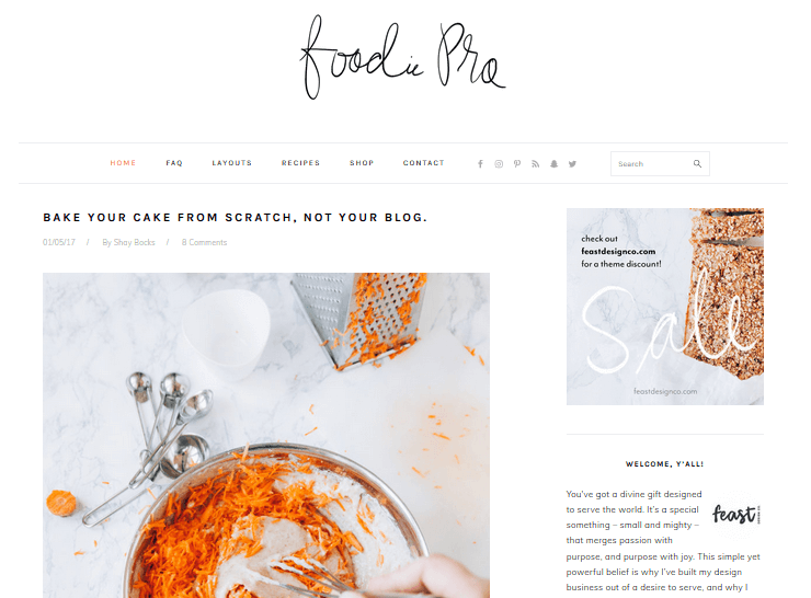 Recipe WordPress Themes – Foodie Pro by StudioPress