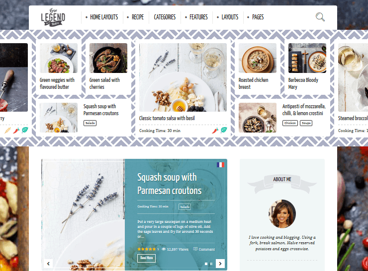 Recipe WordPress Themes – Neptune by Osetin